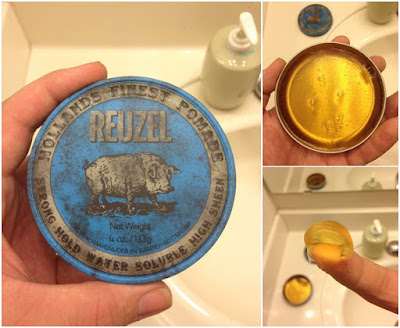 New Reuzel Blue Pomade - Strong Hold High Sheen 4oz.113g