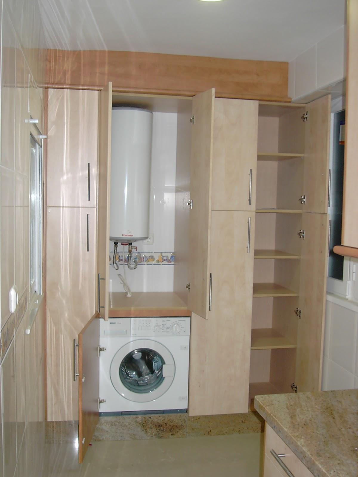 Carpinteria los molinos fotos cocinas for Mueble lavadora ikea