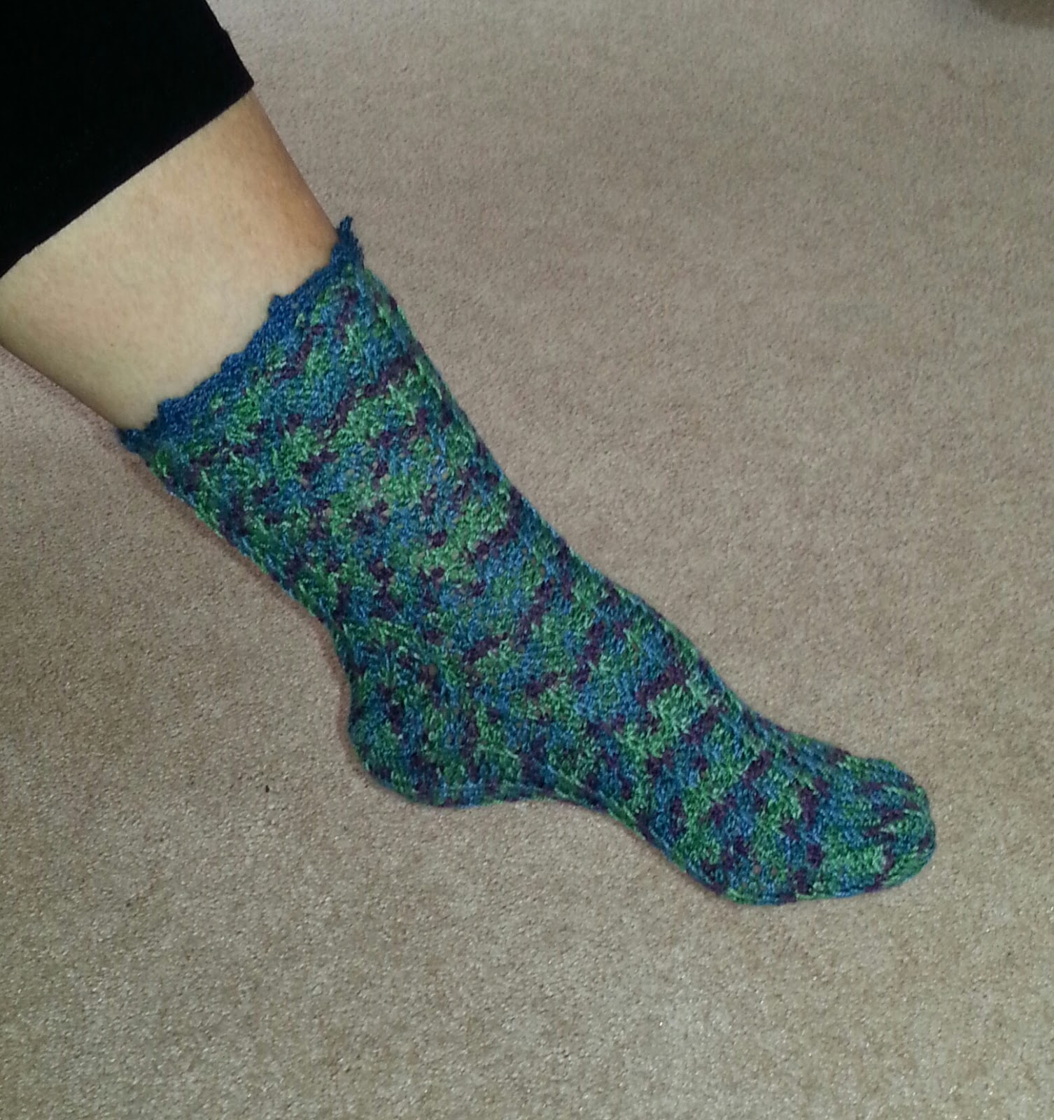 Positively Crochet Free Sock Pattern