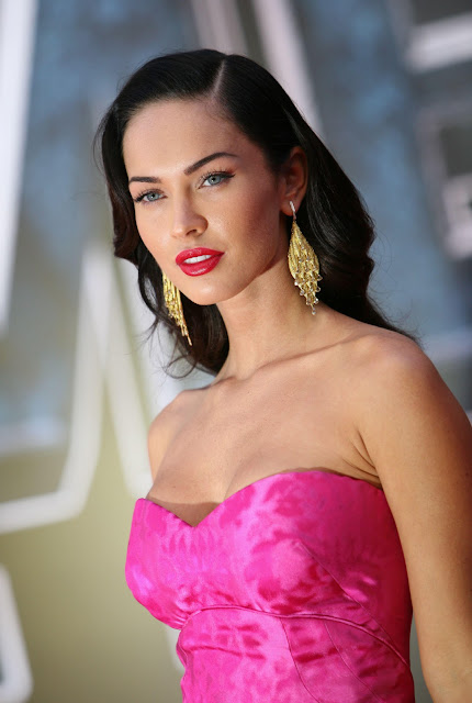Hot Sexy MEGAN FOX WITH PINK DRESS