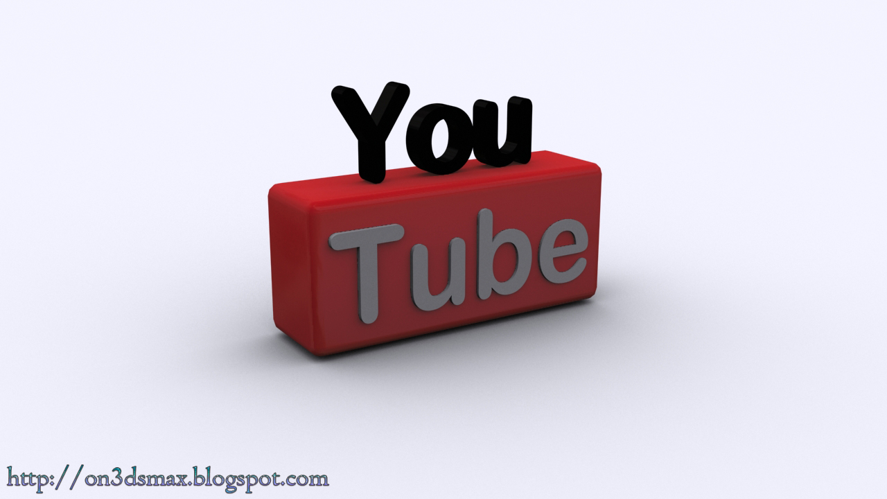 3ds max tutorials: Youtube Logo