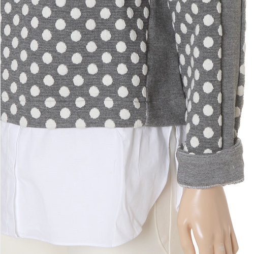 Long Sleeved Polka Dot Blouse