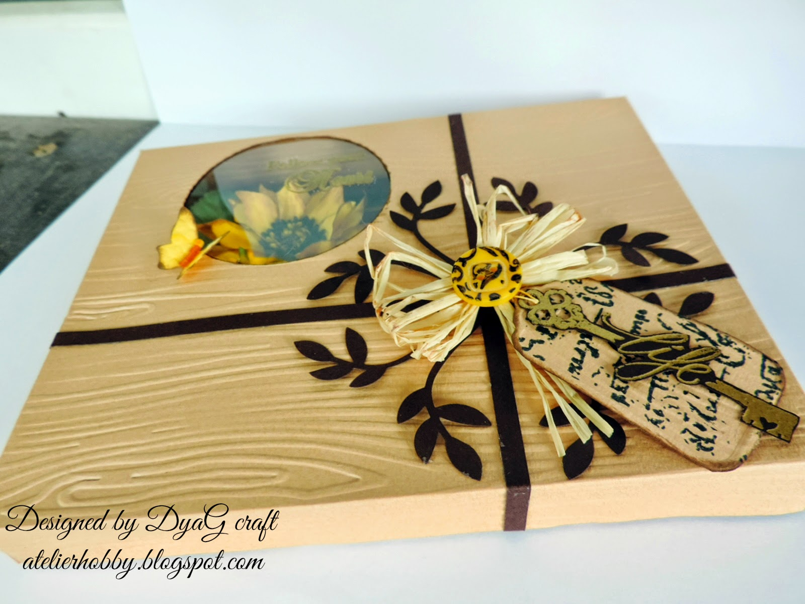 handmade box for cards sunflower