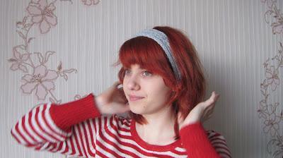 повязка на голову, красивая повязка, вяжем сами, повязка спицами