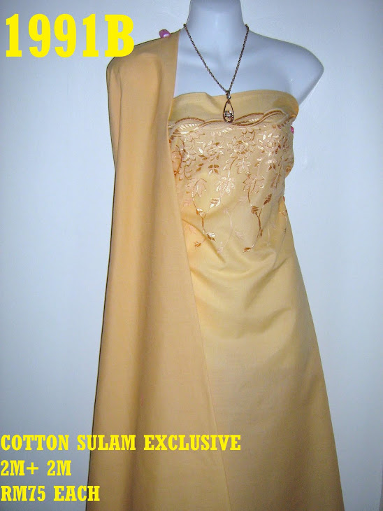CS 1991B: COTTON SULAM MATCHING EXCLUSIVE, 2 M SULAM + 2 M PLAIN, SULAMAN YG AMAT KEMAS  DAN CANTIK