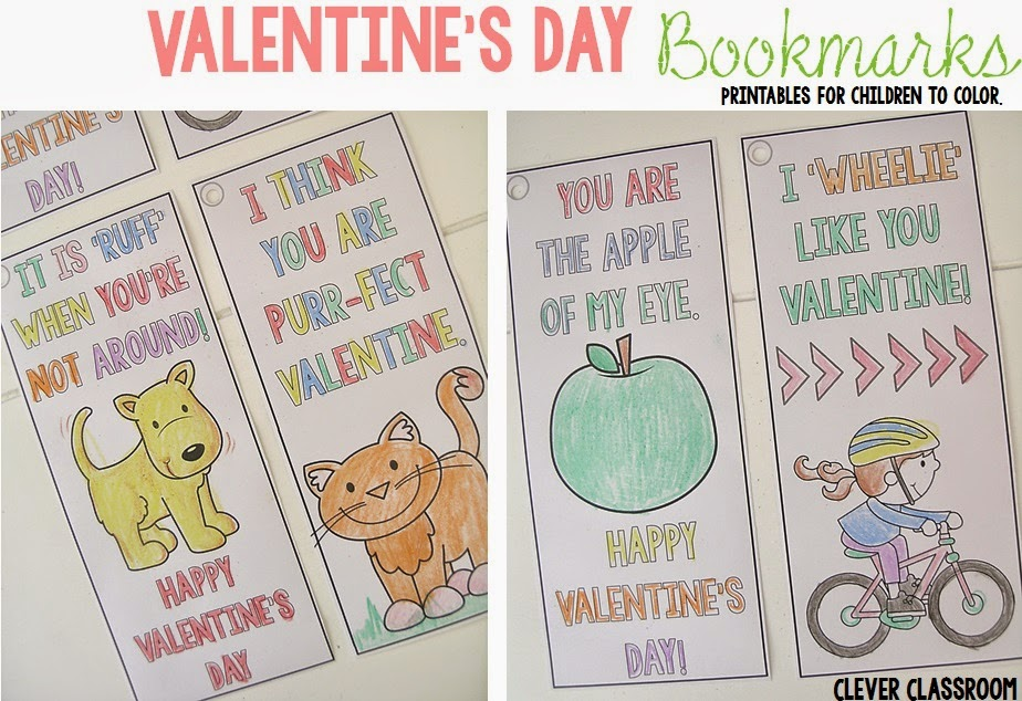 FREE PRINTABLE Valentine's Day Bookmarks for February
