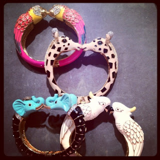 JUICY couture - bracelets - animal bangle - animal kisses - giraffe - elephant - ara-