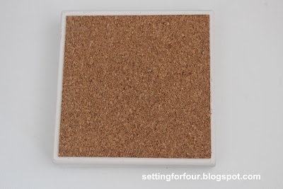 Tile for DIY Coaster Tutorial from Setting for Four #dollar #tile #coaster #diy