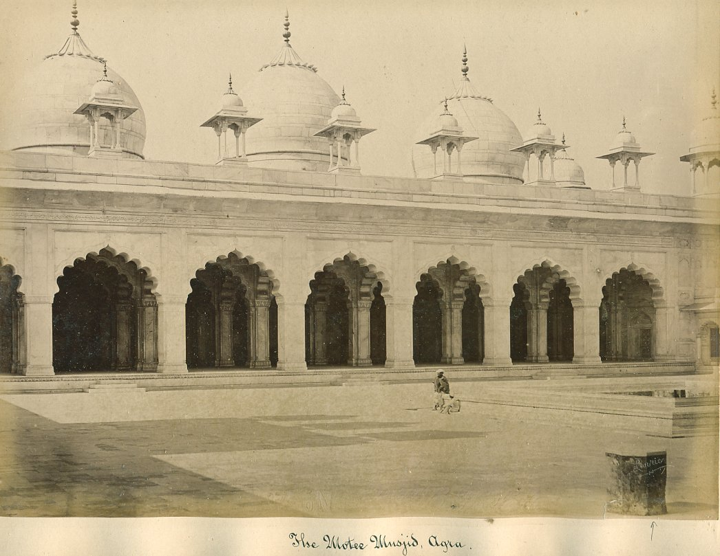 The Motee (Moti / Pearl) Masjid, Agra, Photographed by G. W. Lawrie - Circa 1880's