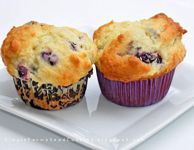 Lemon Blueberry Muffins Life At Cobble Hill Farm