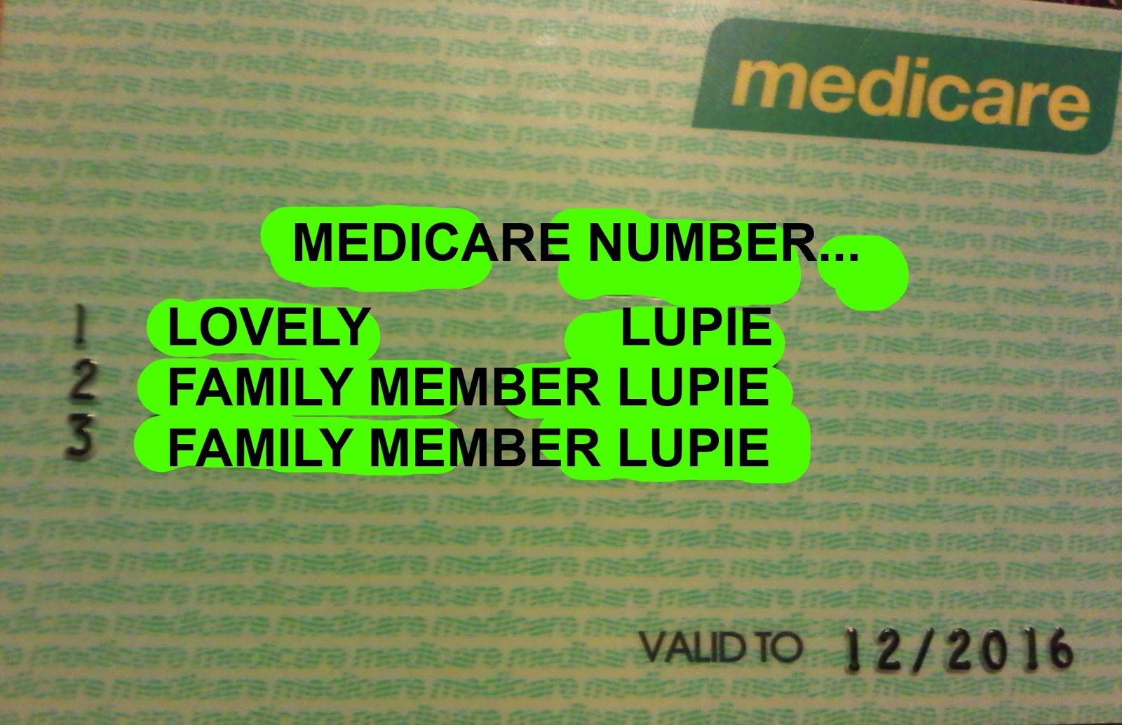 Image: Picture Of A Medicare Card Sometimes It Is Lupus: July 2013
