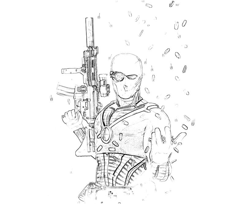 printable-batman-arkham -city-deadshot-coloring-pages
