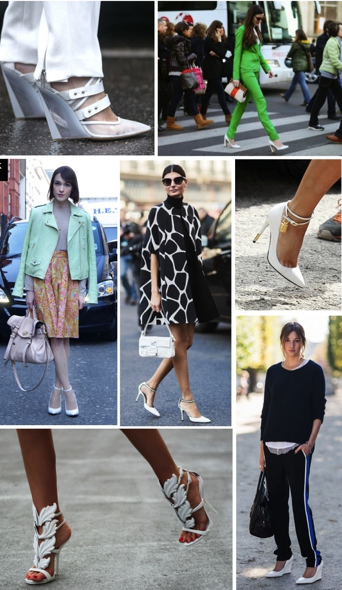 white pumps street style