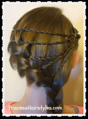 shooting star braid hairstyle