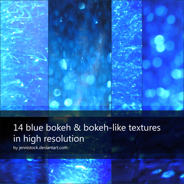 14 blue bokeh and bokeh-like textures