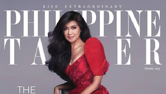 A barefoot Imee Marcos shines on Philippine Tatler cover