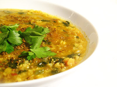 urad dal with toor dal and spinach