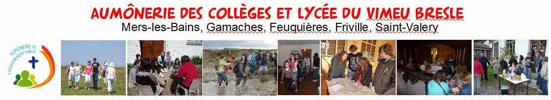 Aumôneries des collèges et lycée du Vimeu-Bresle