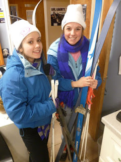 Cross country skiing for girls at Cedar Ridge Academy Therapeutic Boarding school