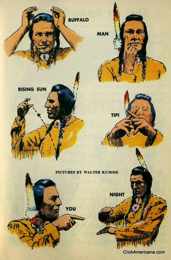 Sign Language Corner: Native American signs from 1954