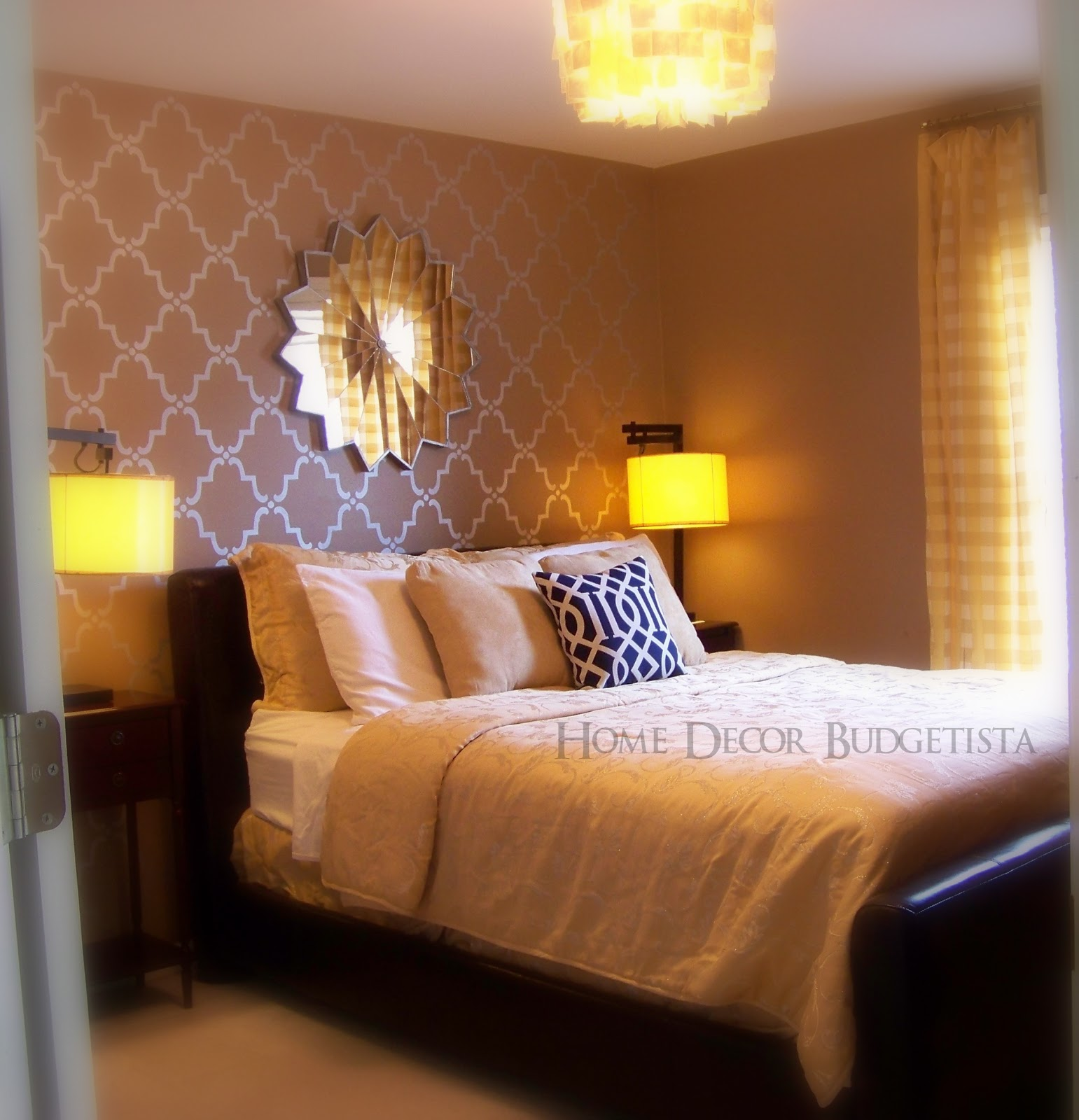 Accent Wall For Bedroom Bedroom Colour Ideas Asian Paints Encore 2 Bedroom Apartment Suite Small Master Bedroom Design Ideas Pictures: Home Decor Budgetista: Home Tour