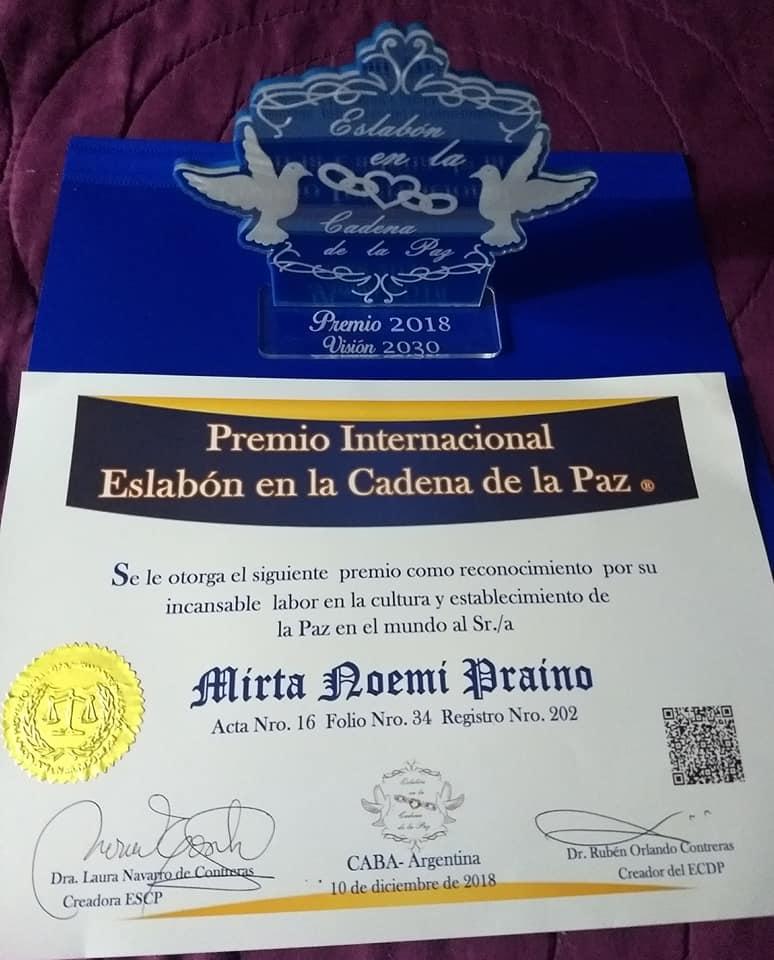 Premio Internacional Eslabón en la Cadena de la Paz