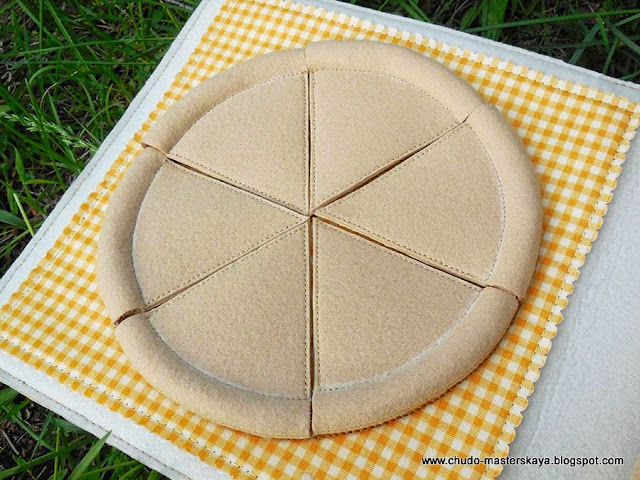 Как сшить пиццу из ткани 74