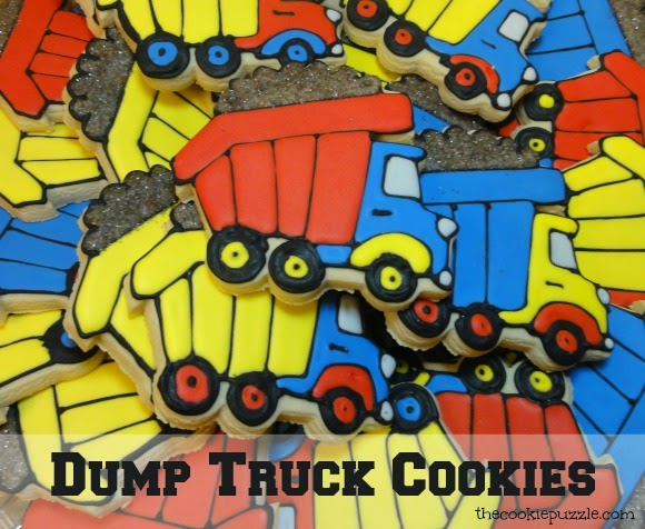 Dump Truck Cookies -The Cookie Puzzle