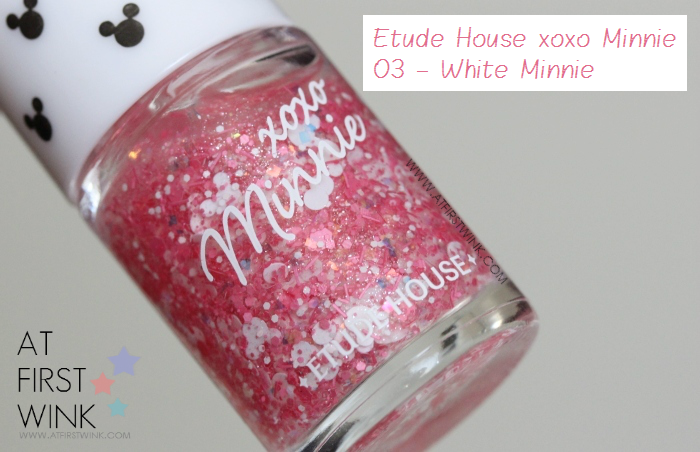 Etude House xoxo Minnie nail polish 03 - White Minnie