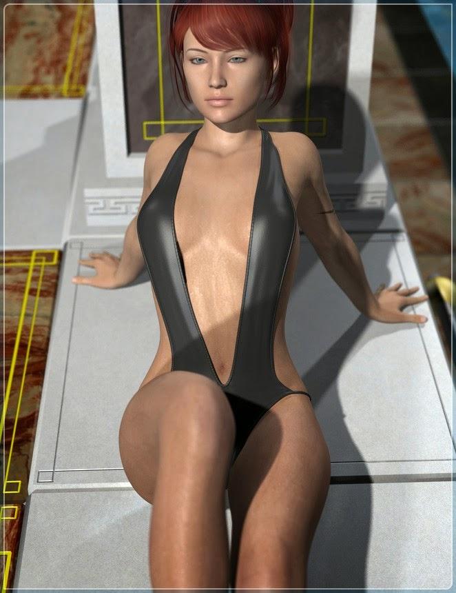 DAZ 3D - Mouillé, Sueur - Pluie de Genèse 2 Femme