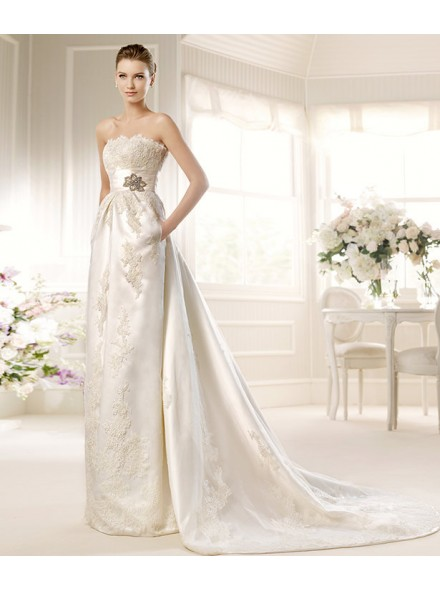Silk wedding dress