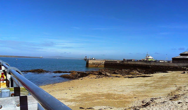 View from the Harbourfront Bistro, Holyhead, Anglesey