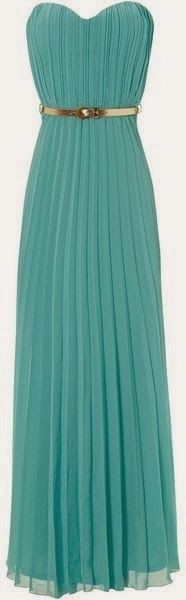 Sky Blue Jane Pleated Belted Maxi