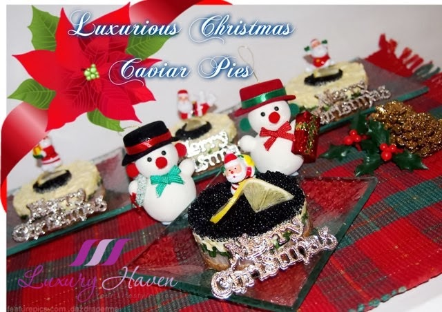 christmas santa party caviar pie appetizer