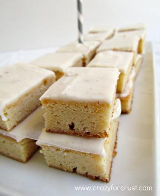 Close up pic of very vanilla bars