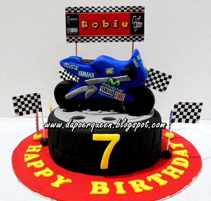 Dapoer Queen Moto Gp Birthday Cake For Tobie