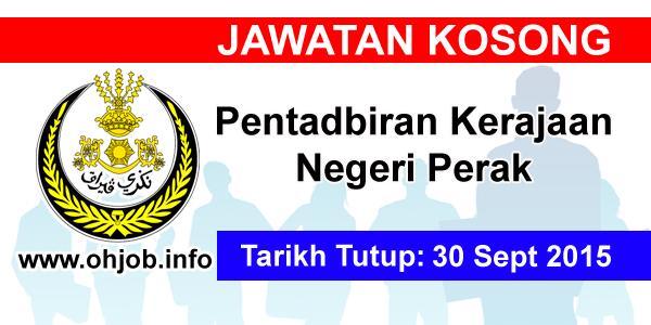 Jawatan Kerja Kosong Pentadbiran Kerajaan Negeri Perak logo www.ohjob.info september 2015