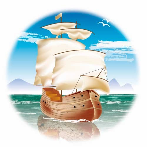Sailing Ship in Illustrator CS5