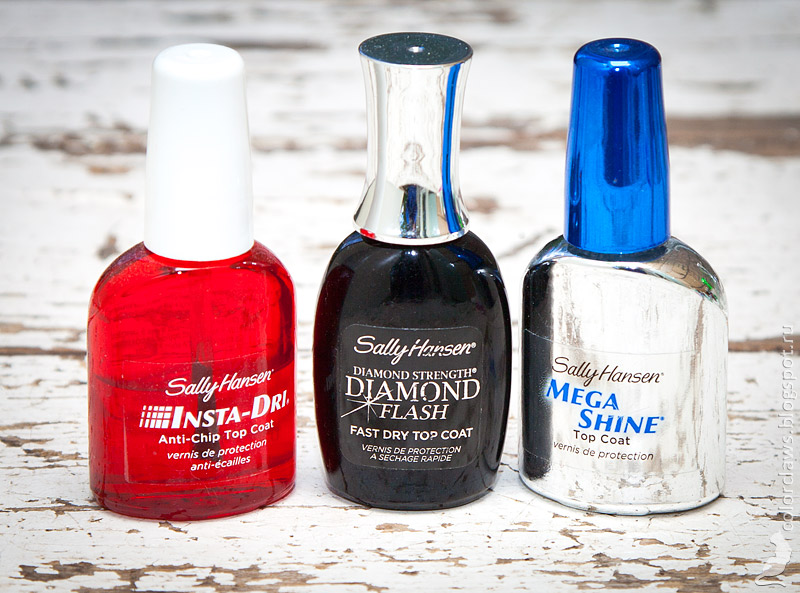 Sally Hansen Insta-Dri, Diamond Flsh & Mega Shine