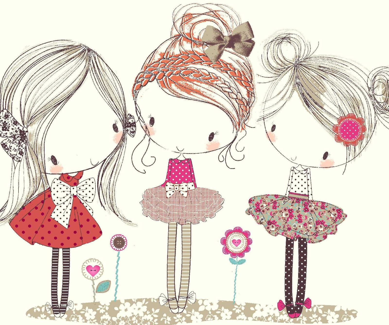 All about surface pattern textiles and graphics girls for tu for Cute little doodles to draw