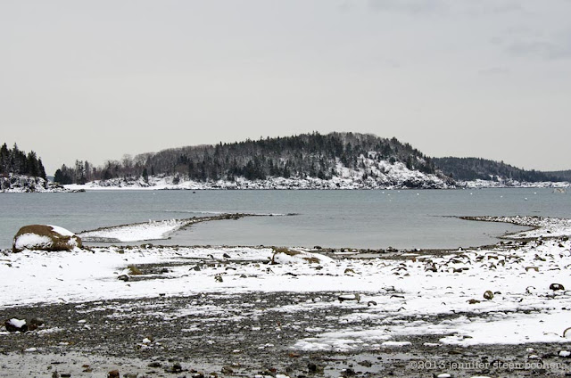 seascape with snow