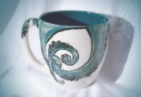 Keramik Bemalen Hamburg mirella design keramik bemalen mit tentakel