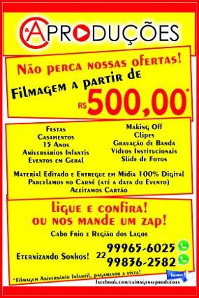 C&A PRODUÇÕES - FILMAGENS