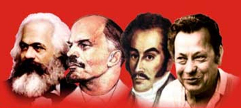 Con Bolivar y Manuel