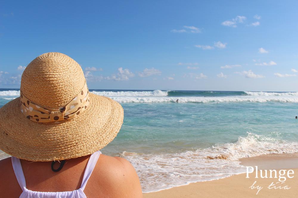 Girl at the beach, Hawaii