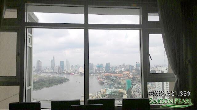 View trung tâm Tp từ căn hộ Saigon Pearl 86m2 cho thuê