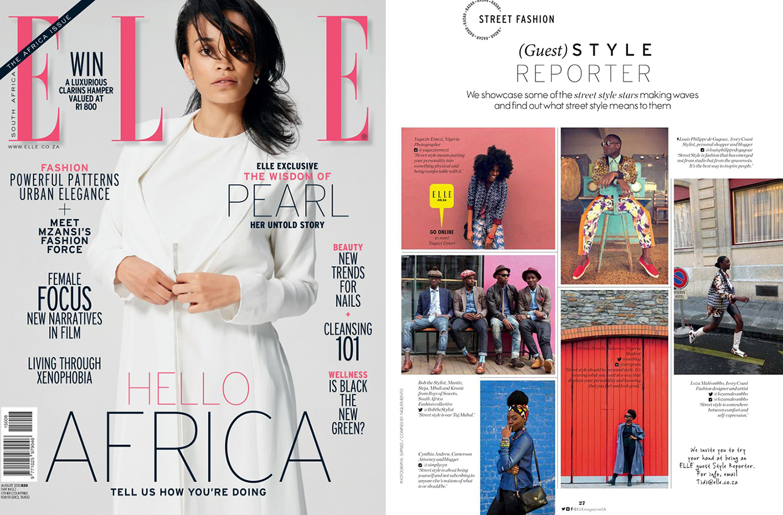 ELLE Magazine, South Africa, Street Style, Black Fashion