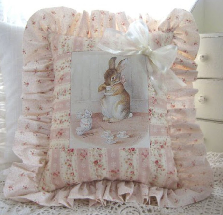 Cuscino con coniglietto