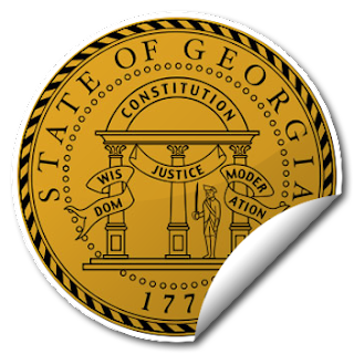Sticker of Georgia Seal