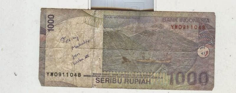 gambar uang dicoret coret